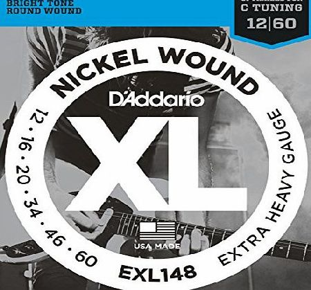 Daddario EXL148 Nickel Wound Extra-Heavy 12-60