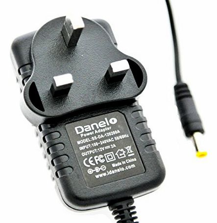 Danelo 12V Danelo AC-DC Charger Adapter Power Supply For Panasonic LS91 Portable DVD Player