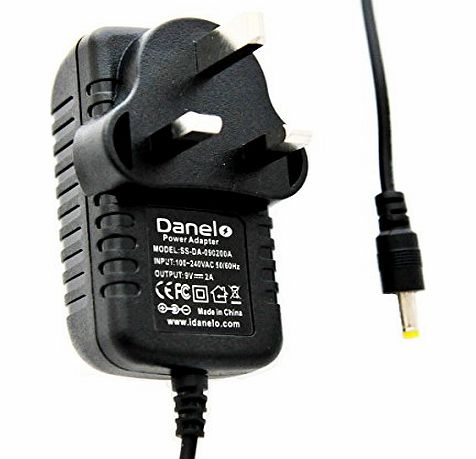 Danelo Philips Phillips Portable DVD Player 9V PET Mains AC-DC Switching Power Adaptor