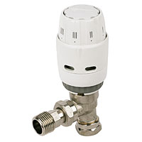 RAS-C White and Chrome TRV 8/10mm Angled