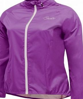 Dare 2b Dare2b Womens Evident II Waterproof Breathable Cycle Lightweight Jacket (Performance Purple, Size 16)