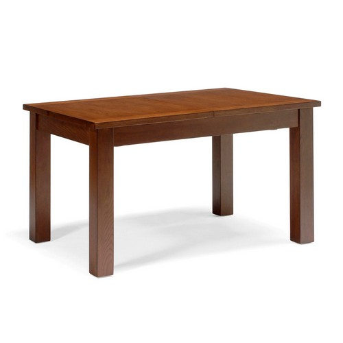 stock dining tables : dark contemporary oak thick top dining table from www.comparestoreprices.co.uk size 500 x 500 jpeg 17kB