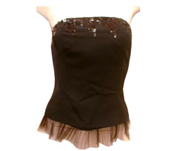 Cord low sneakerSequin bustier - CLICK FOR MORE INFORMATION