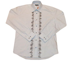 Long sleeved poplin taped front shirt - CLICK FOR MORE INFORMATION
