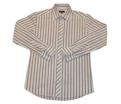 Long sleeved striped bias cut placket shirt - CLICK FOR MORE INFORMATION
