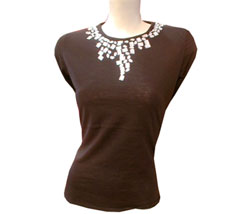 Rhinestone wool/jersey top - CLICK FOR MORE INFORMATION