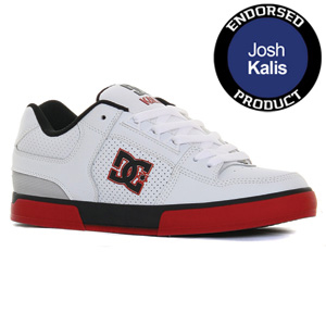 DC Kalis Skate shoe - White/Black/True Red