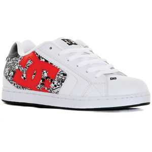 DC Net SE Skate shoe - White/Athletic Red