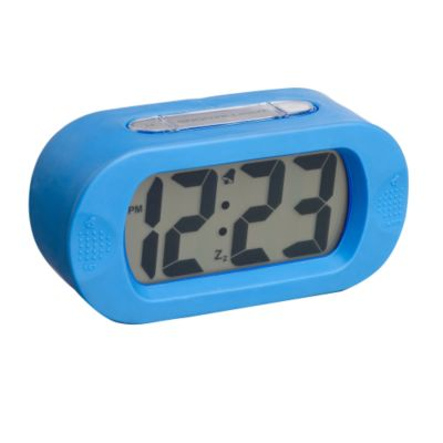 Debenhams Blue vetro alarm clock