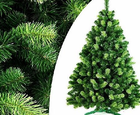 DecoKing 220 cm / ~7 ft Handmade Artificial Christmas Tree Fir Tree with Stand Daria