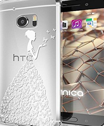delightable24 Premium Protective Case TPU Silicone HTC 10 Smartphone - Butterfly Princess