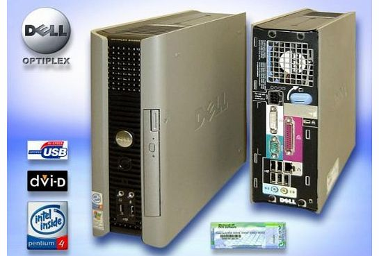 Dell Series USFF (Ultra Small Form Factor) PC - Intel Pentium 4 HT (Hyper Threading) - 2GB Ram - 1000GB (1TB) Hard Drive - DVD-ROM - WINDOWS XP PRO SP3 GENUINE PRE-INSTALLED
