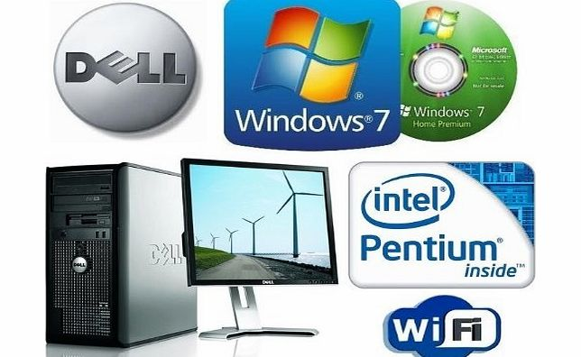 Dell Windows 7 Pre-Installed - Dell OptiPlex Minitower - Intel Pentium Dual Core Processor - Wireless Internet - 500GB Hard Drive - 2GB Memory - 19`` Inch LCD TFT Monitor - Keyboard amp; Mouse - Supplied w