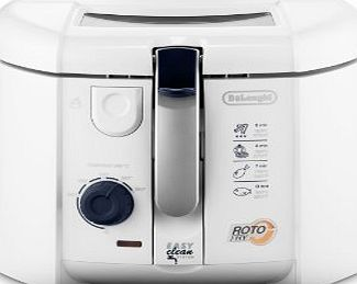 DeLonghi Roto Fry Deep Fryer with Easy Clean System F28311.W1, 1.2 L, 1800 W - White