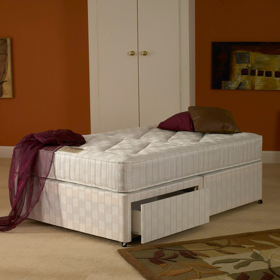 Deluxe beds white wine for White single divan