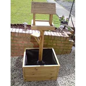 Deluxe Bird Table And Planter Oak Review Compare Prices Buy Online