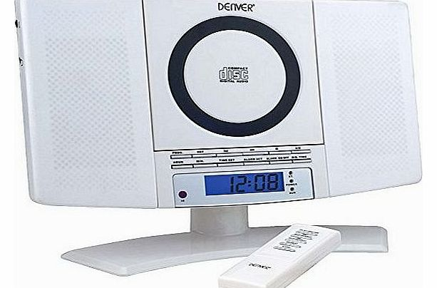 MC-5220 White Wall Mountable Music System CD, FM Radio, Clock & Alarm function, Remote Control