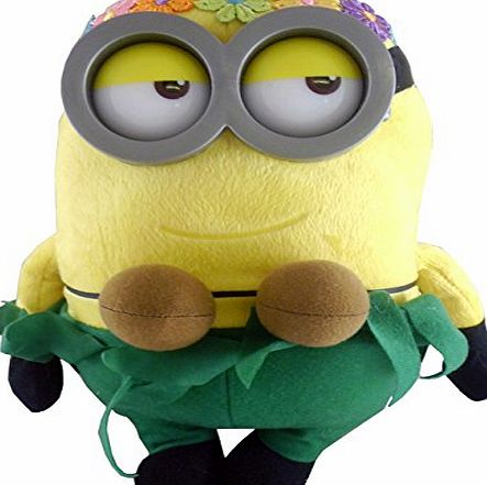 Despicable Me 10`` Dressed Minion Plush Figure - Hula Minion - TV amp; Film Character Toys