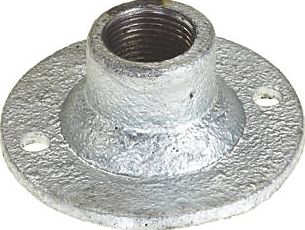 Deta, 1228[^]1836J Galvanised Spouted Dome Covers 20mm Pack of