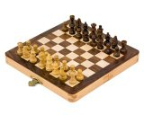 Deverell Games 7` White Wood folding chess set with Staunton style pieces product image