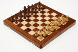 Deverell Games Sheesham and Boxwood Magnetic 12 inch folding inlaid chess set product image