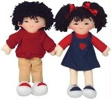 Multicultural Asian 20` Girl and Boy Rag Doll