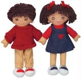 Multicultural Hispanic 20` Girl and Boy Rag Doll
