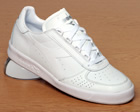 Borg Elite White/White Leather Trainers