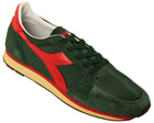 Ed Moses Green/Red Trainers