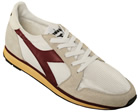 Ed Moses White/Burgundy Trainers