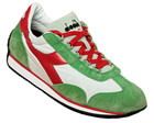 Equipe Green/Red Stonewashed Trainers