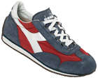 Equipe Red/White/Blue Stonewashed Trainers