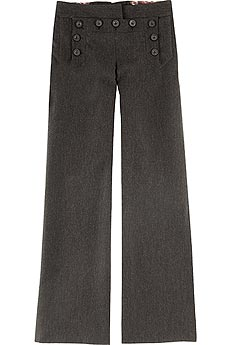 Wool sailor pants