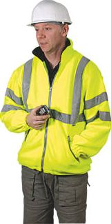 Dickies, 1228[^]46412 Hi-Vis Fleece Jacket Saturn Yellow Large