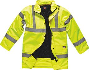 Dickies, 1228[^]1071H Hi-Vis Motorway Safety Jacket Saturn