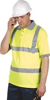Dickies, 1228[^]46949 N/A Hi-Vis Safety Polo Shirt Saturn