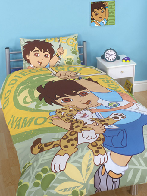 Diego go diego go duvet cover and pillowcase bedding for Go diego go bedding