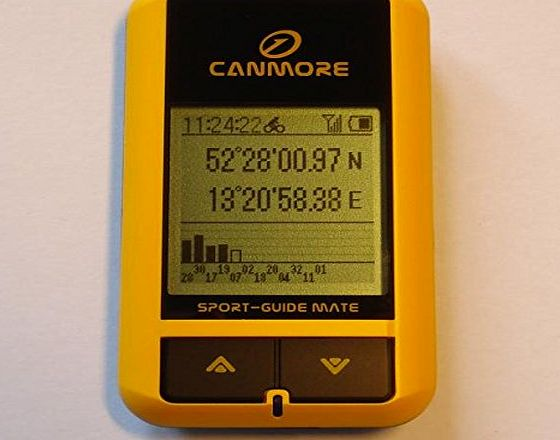 digital-paradise GP-101(Yellow) Handheld GPS Tracker GPS Cycle Computer BackTrack GPS, GeoTag Data Logger, USB GPS Receiver, 65 Channels, Built-in Digital Compass, IPX4 waterproof, Sport Software Included