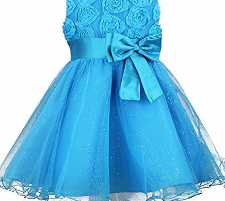 discoball Girls Flower Formal Wedding Bridesmaid Party Christening Dress Children Clothing Girls Lace Dress Princess Dresses Kid Baby Clothes age 2-12 years (3-4years, purple) product image