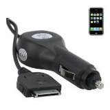 Premium Quality Car Charger For Apple: iPhone, iPhone 3G, iPod 3G, iPod 4G, iPod Classic, iPod Color, iPod Mini, iPod Nano, iPod Nano 2G, iPod Nano 3G, iPod Nano 4G, iPod Photo, iPod Touch, iPod Touch