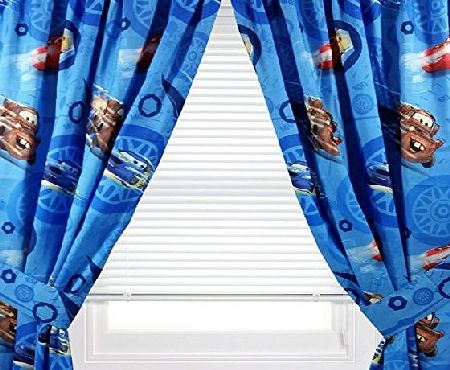 Disney 4pc Disney Cars Curtain Set Lighting McQueen City Limits Drapes with Tie-Backs