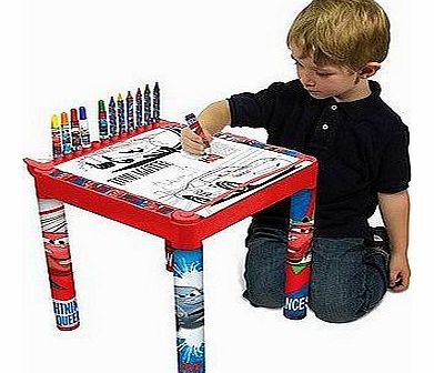 Disney Cars 2 Colouring Table