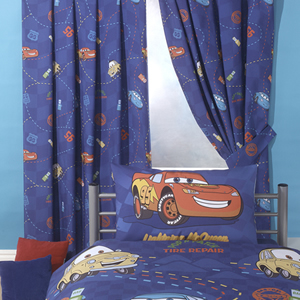 Disney cars racing track curtains 72 inch drop review for Where can i buy curtains online