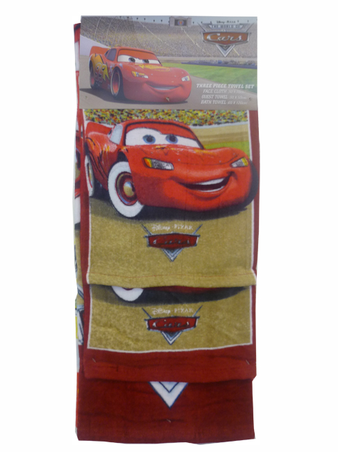 Towel set 3 piece Red