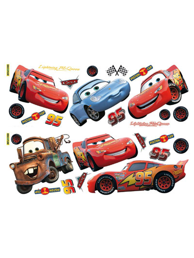 Disney cars wall stickers stikarounds 25 piece review for Disney cars mural uk