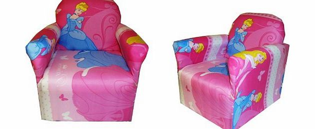 PRINCESS CHILDRENS BRANDED CARTOON CHARACTER ARMCHAIR CHAIR BEDROOM PLAYROOM KIDS SEAT