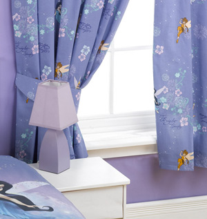 The Disney Fairies ready made curtains go well with the Disney Fairies duvet cover set, and really make a bedroom fit for a little princess! The curtains come with tie-backs, are pleated at the top, and can be easily attached to any curtain rail or p - CLICK FOR MORE INFORMATION