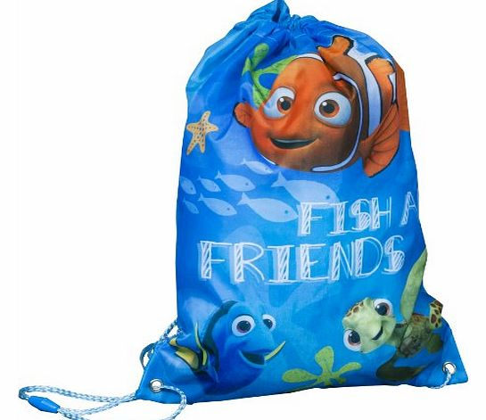 Disney Finding Nemo Drawstring draw string trainers PE sports gym bag