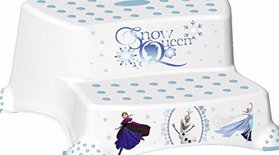 FROZEN Childrens Toilet Training 21cm tall Double Step Stool - White