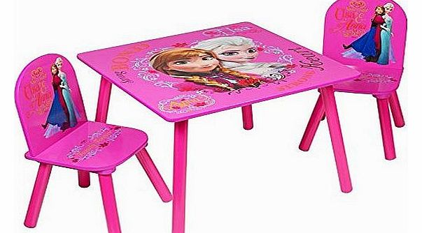 Frozen Kids Pink Activity Table 2 Chairs Childrens Bedroom Furniture Set